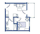 Amber Ridge Assisted Living One Bedroom Floor Plan