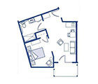 Amber Ridge Assisted Living Private One Bedroom Floor Plan