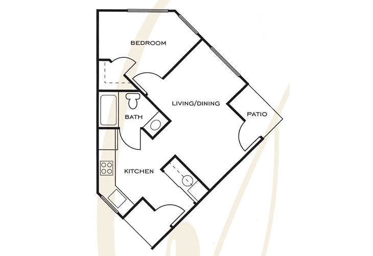 Ashwood Place Independent Living B10 Floor Plan