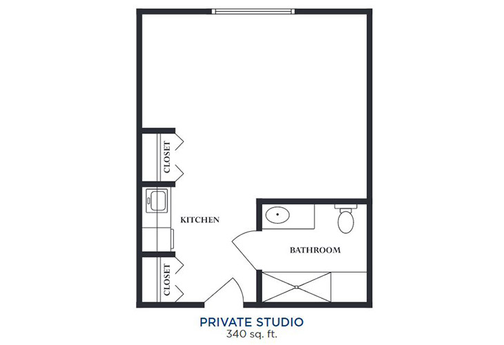 Cherry Hill Assisted Living Private Studio Floor Plan