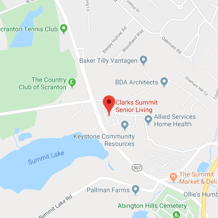 Map of Clarks Summit Senior Living