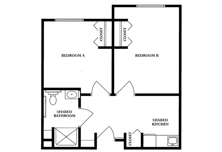 Clarks Summit Senior Living Skilled Nursing Companion Suite Floor Plan