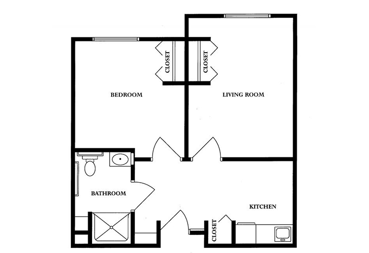 Clarks Summit Senior Living Skilled Nursing Private Suite Floor Plan