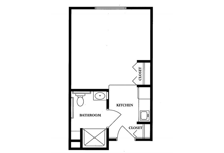 Clarks Summit Senior Living Skilled Nursing Studio Floor Plan