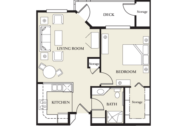 College View Manor Independent Living Skilled Nursing 1 Bed  Floor Plan