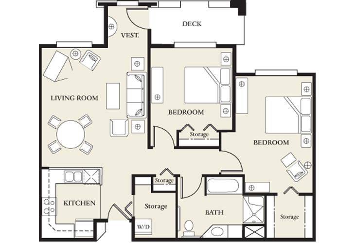 College View Manor Independent Living Skilled Nursing 2 Bed Floor Plan