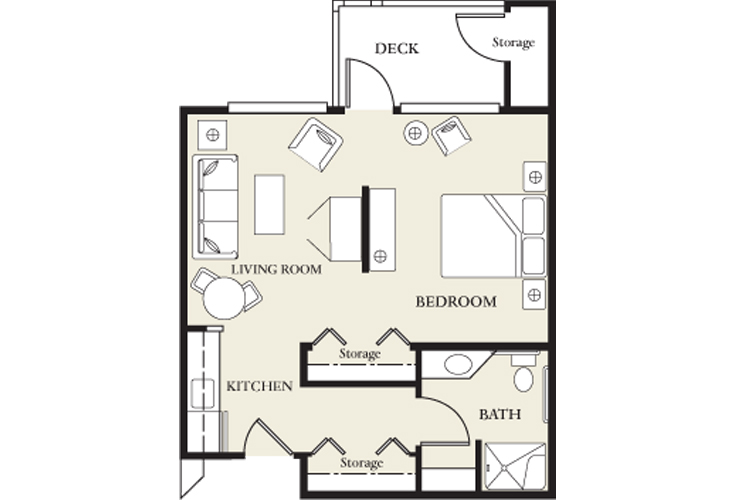 College View Manor Independent Living Skilled Nursing Studio Floor Plan
