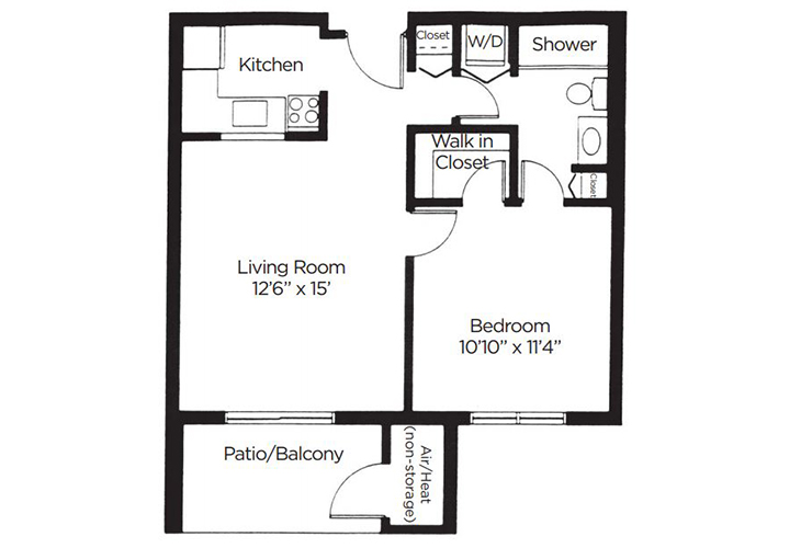 Coral Oaks Independent Living Aspen Floor Plan