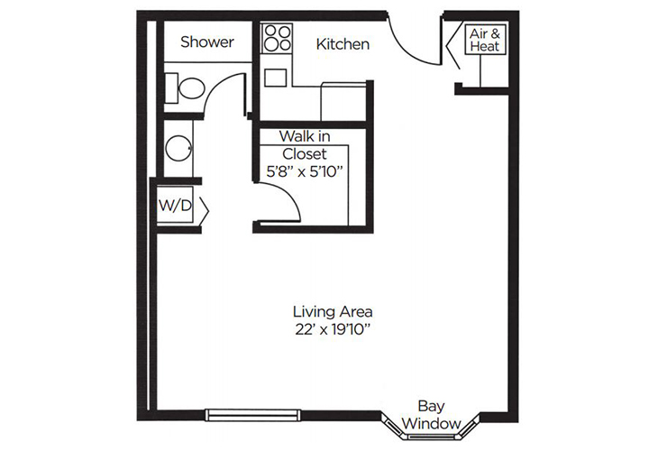 Coral Oaks Independent Living Azalea Floor Plan