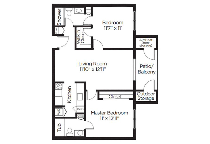 Coral Oaks Independent Living Jacaranda Floor Plan