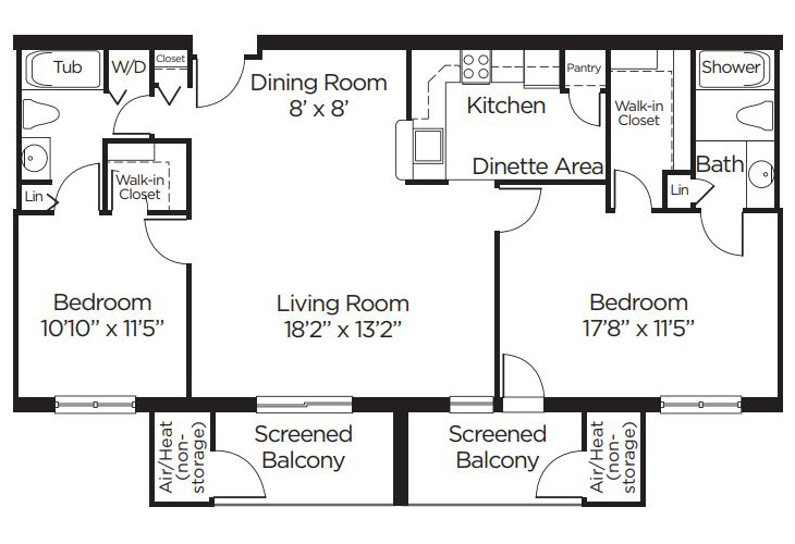 Coral Oaks Independent Living Wisteria Floor Plan