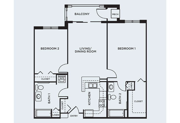 Coventry Village Independent Living Dane Floor Plan