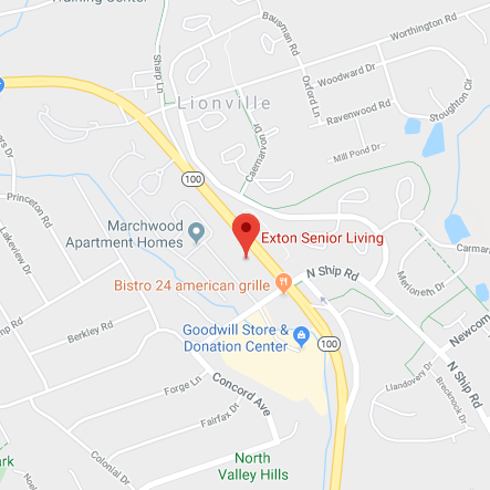 Map of Exton Senior Living