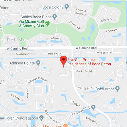 Map of Five Star Premier Residences of Boca Raton