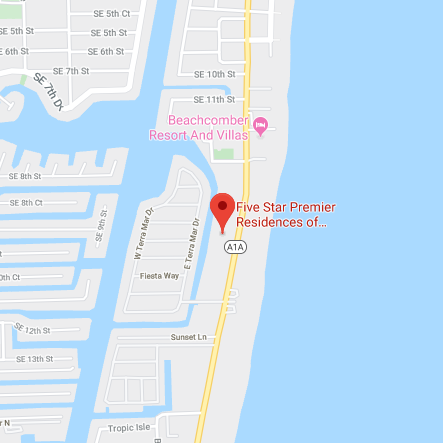 Map of Five Star Premier Residences of Pompano Beach