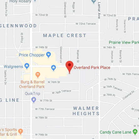 Map of Overland Park place