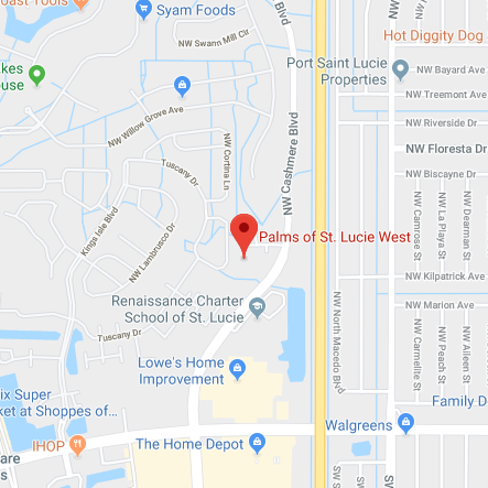 Map of the Palms at St Lucie West