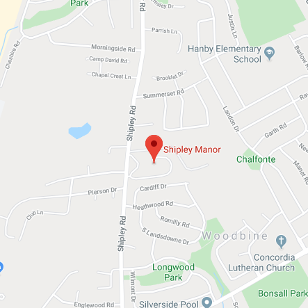 Map of Shipley Manor