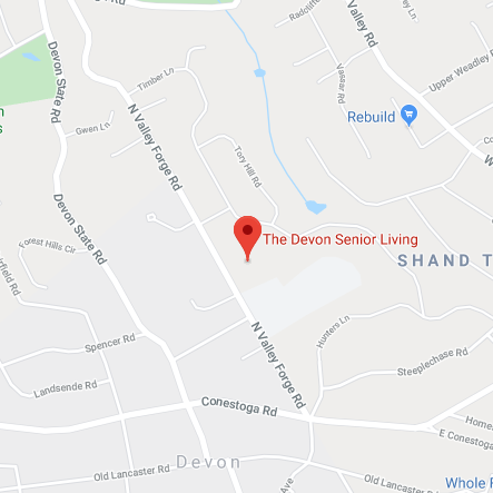 Map of The Devon Senior Living
