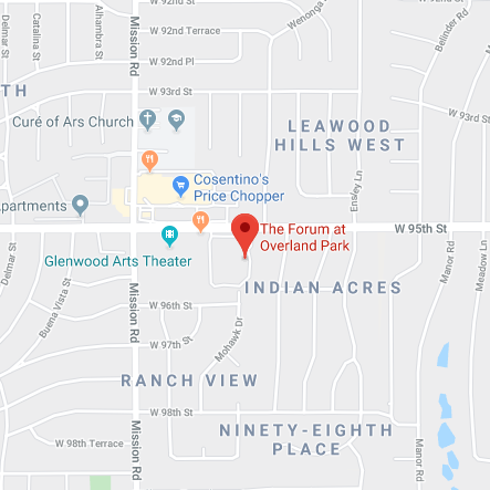 map of forum at overland park