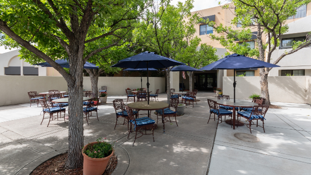 The Montebello on Academy patio
