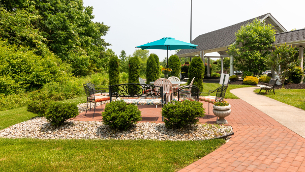 Voorhees Senior Living patio