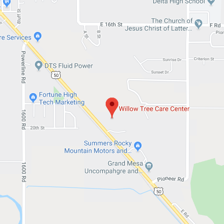 Map of Willow Tree Care Center