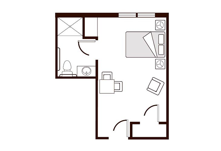 Amber Ridge Memory Care Studio A Floor Plan
