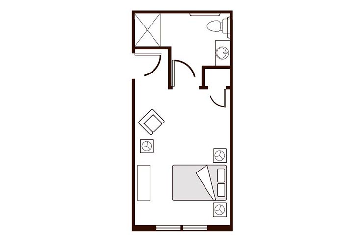Amber Ridge Memory Care Studio B Floor Plan