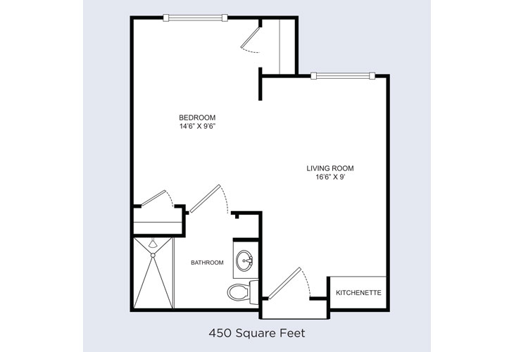 Barrington Terrace Memory Care Barrington Suite Floor Plan