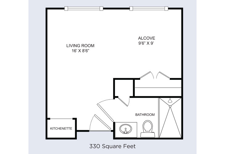 Barrington Terrace Memory Care Terrace Suite Floor Plan