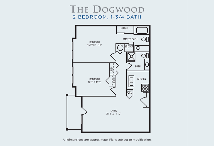 Brandon Woods at Alvamar Assisted Living Dogwood Floor Plan
