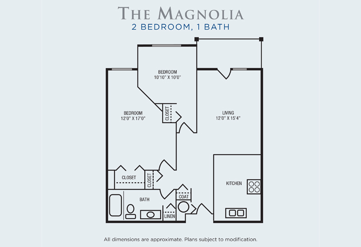 Brandon Woods at Alvamar Assisted Living Magnolia Floor Plan