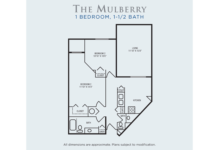 Brandon Woods at Alvamar Assisted Living Mulberry Floor Plan