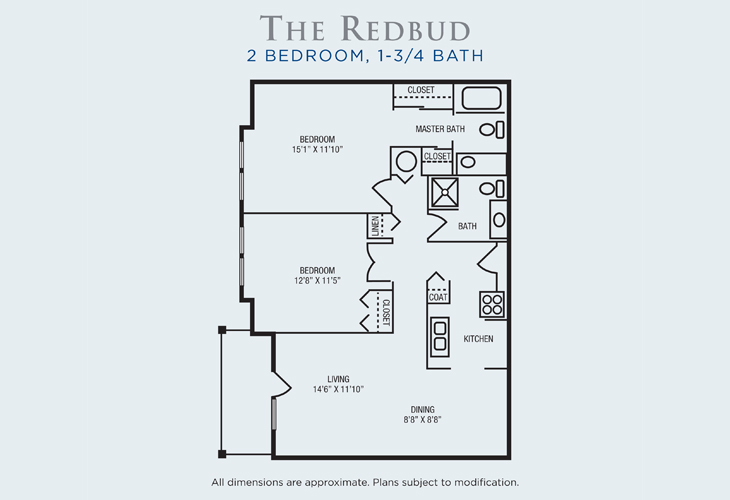 Brandon Woods at Alvamar Assisted Living Redbud Floor Plan