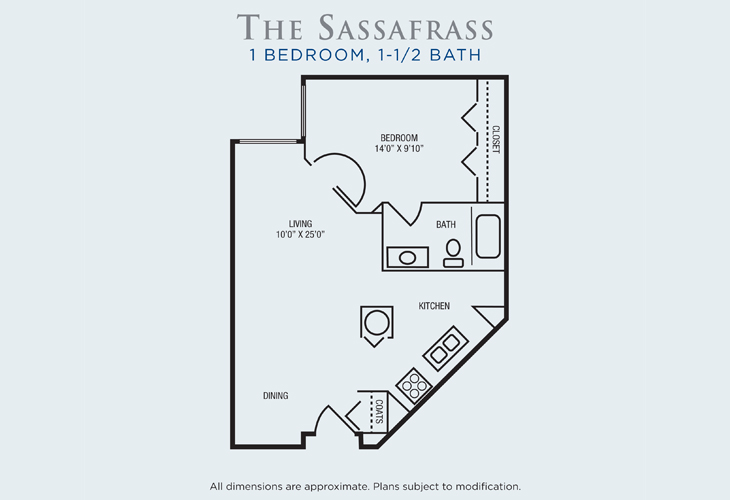 Brandon Woods at Alvamar Assisted Living Sassafrass Floor Plan