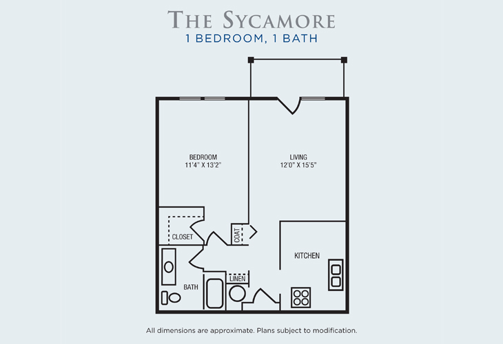 Brandon Woods at Alvamar Assisted Living Sycamore Floor Plan