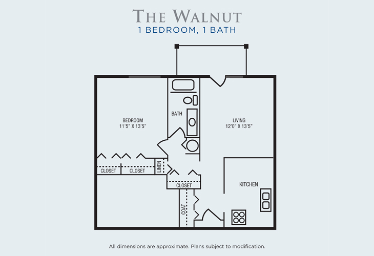 Brandon Woods at Alvamar Assisted Living Walnut Floor Plan