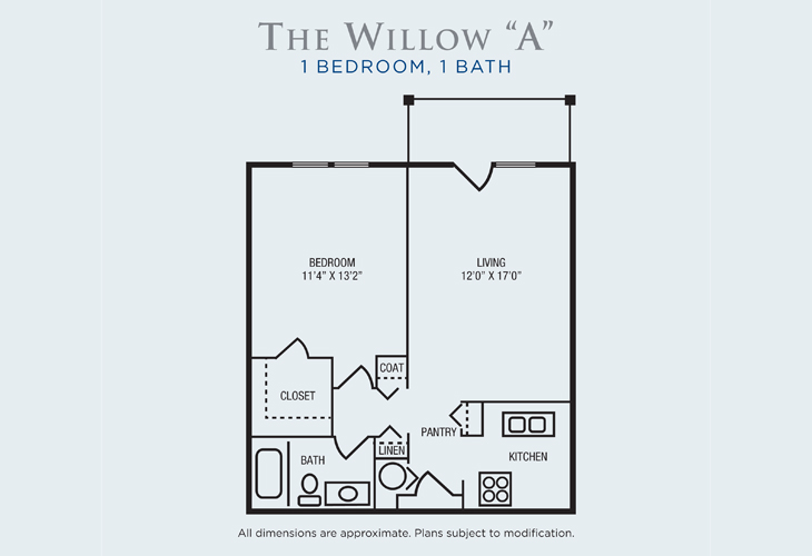 Brandon Woods at Alvamar Assisted Living Willow A Floor Plan