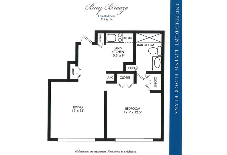 Calusa Harbour Independent Living Bay Breeze Floor Plan