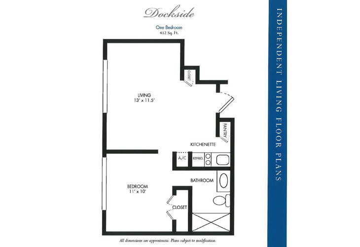 Calusa Harbour Independent Living Dockside Floor Plan