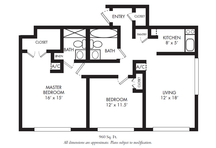 Calusa Harbour Independent Living Harbour Floor Plan