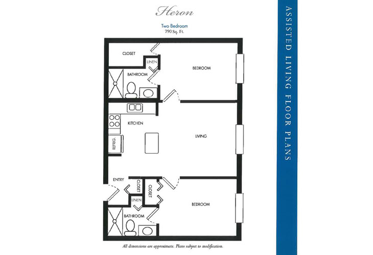 Calusa Harbour Assisted Living Heron Floor Plan