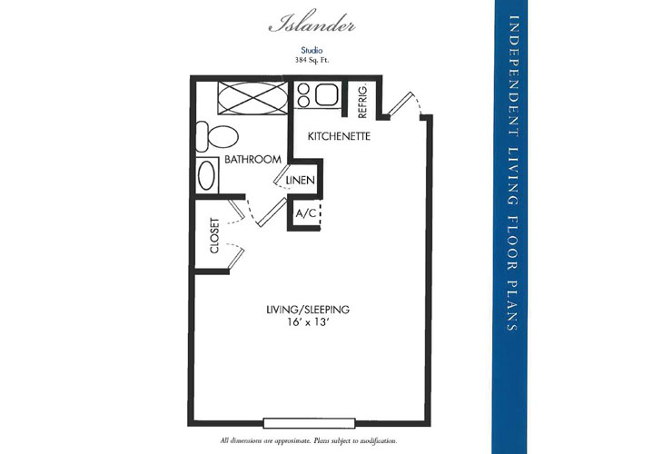 Calusa Harbour Independent Living Islander Floor Plan
