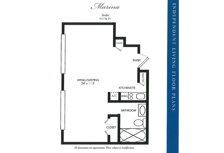 Calusa Harbour Independent Living Marina Floor Plan