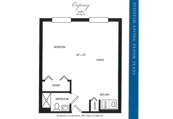 Calusa Harbour Assisted Living Osprey Floor Plan