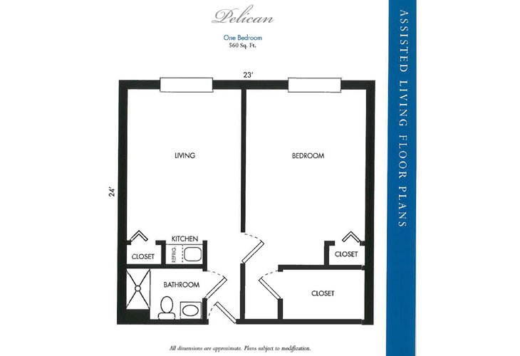 Calusa Harbour Assisted Living Pelican Floor Plan