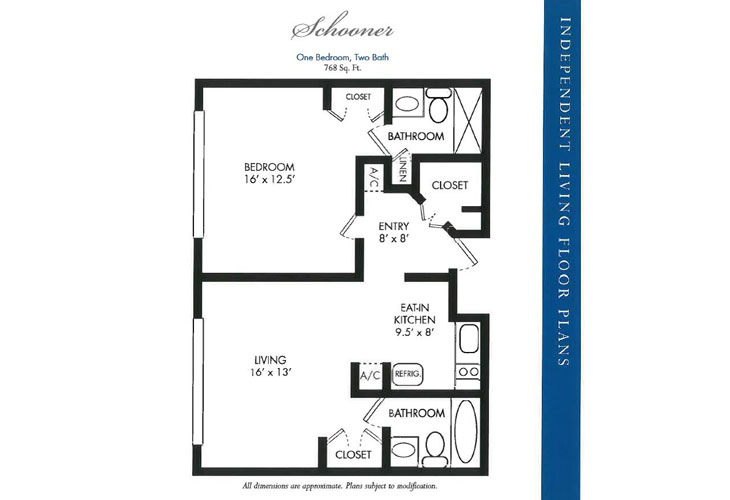 Calusa Harbour Independent Living Schooner Floor Plan