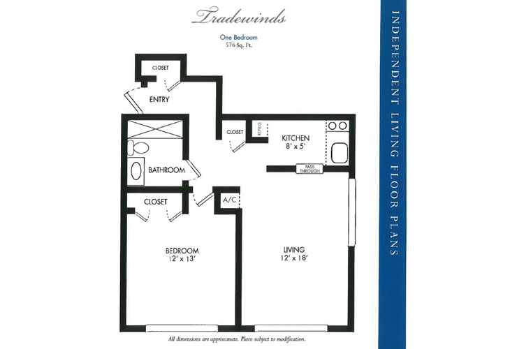 Calusa Harbour Independent Living Tradewinds Floor Plan
