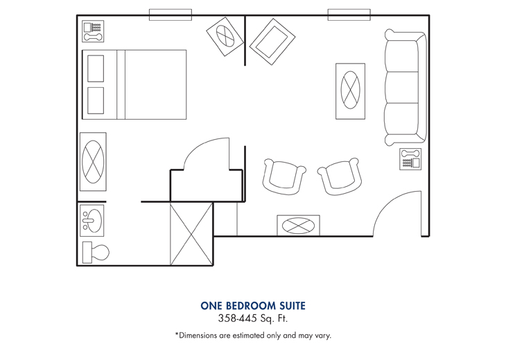 Cameron Hall of Canton Assisted Living 1 Bed Suite Floor Plan